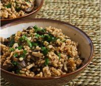 Mushroom and barley pilaf