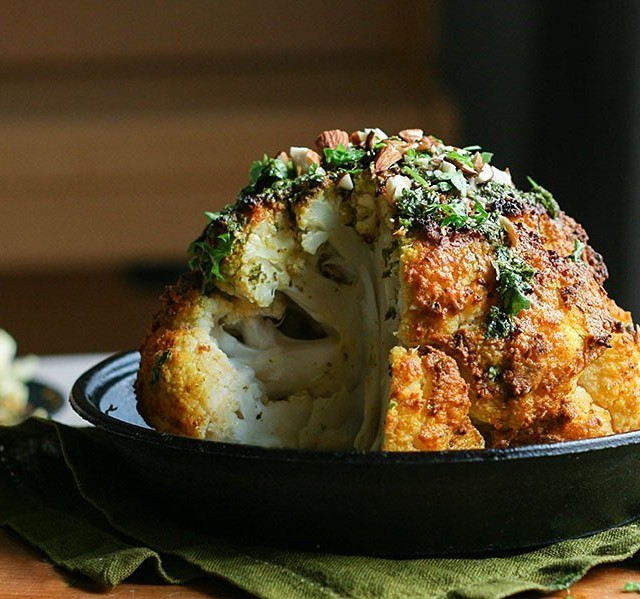 This delicious mediterranean whole roasted cauliflower is the perfect dishhellip