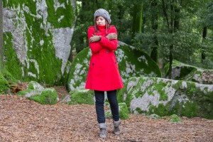 Young woman shivering with cold